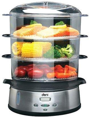 Deni digital 3-tier stainless steel food steamer