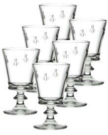 La Rochere Glassware, Set of 6 Napoleonic Bee Water Glasses