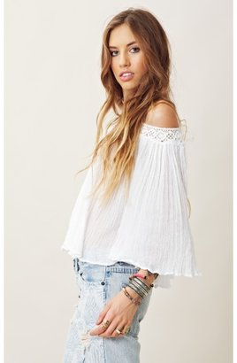 Jens Pirate Booty GAUZE OFF THE SHOULDER TOP