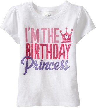 """Old Navy """"I'm the Birthday Princess"""" Tees for Baby"""