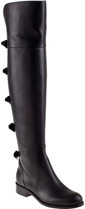 Valentino Bow Over-the-Knee Boot Black Leather