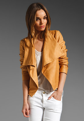Theory Kanya Rowdy Leather Blazer