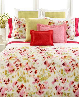"Vera Wang Bedding, Modern Ikat 12"" x 16"" Square Decorative Pillow"
