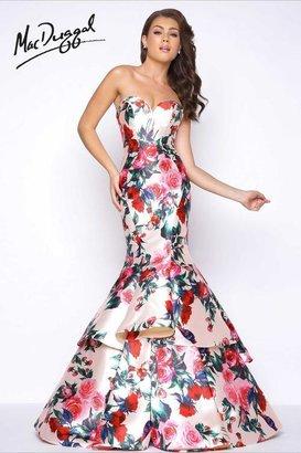 Mac Duggal - Floral Print Mermaid Prom Dress 79095M $538 thestylecure.com