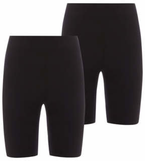 George Girls Black School Cycling Shorts 2 Pack