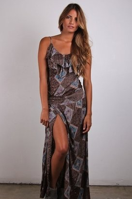 Nightcap Clothing High Thigh Ruffle Dress in Print $226 thestylecure.com