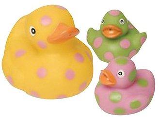 Mud Pie Baby Rubber Duck Light-Up Toy Set, E-I-E-I-O