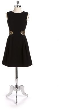 Monique Lhuillier ML Embellished A-Line Dress