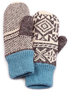 Muk Luks North American Button Mittens - Grey