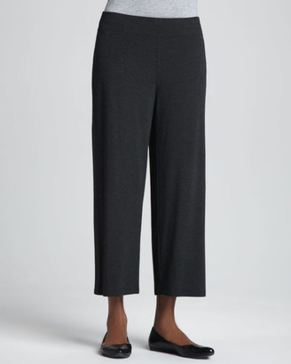 Eileen Fisher Washable-Crepe Cropped Pants