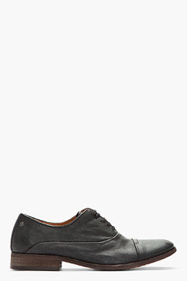 Diesel Black Leather Chrom Oxfords