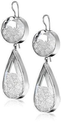 """Moritz Glik Kaleidoscope"""" 18K White Gold and Floating Diamond Earrings"""