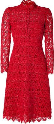 RED Valentino Valentino Red Cotton Lace Dress