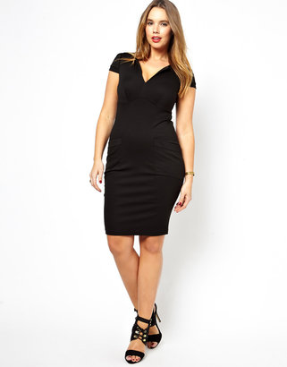 Asos Sexy Pencil Dress With Pockets
