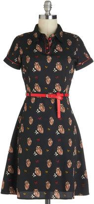 Yumi Owl in Good Time Dress