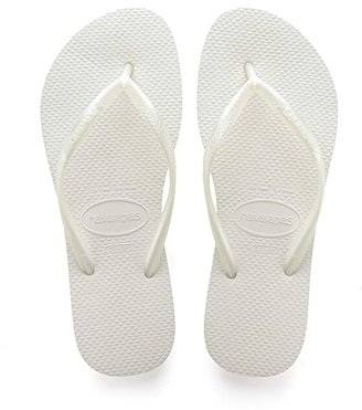 Havaianas Slim Flip Flops (White) Women's Sandals