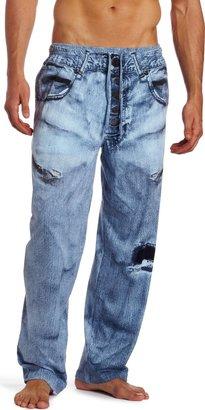 Paul Frank Men's MJC International Generic Faux Denim Pajama Pant