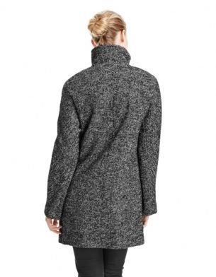 Ellen Tracy Tweed Button Front Coat