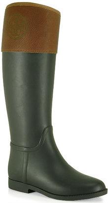 Tory Burch Diana - Rubber Tall Rain Boot