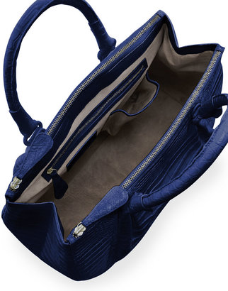 Nancy Gonzalez Plisse Large Crocodile Tote Bag, Electric Blue