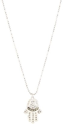 Judith Jack 60221669 Reversible Hamsa Necklace (Marcasite) - Jewelry