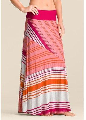 Pink Lotus Calypso Bias Maxi Skirt