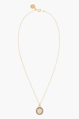 Marc by Marc Jacobs Gold Enamel Disc Pendant