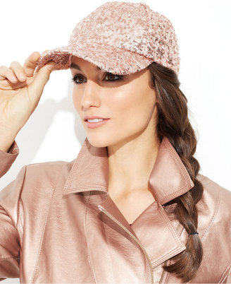 Collection XIIX Hat, Sequin Baseball Cap