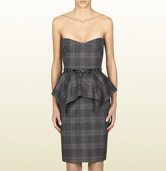 Gucci Belted Strapless Dress