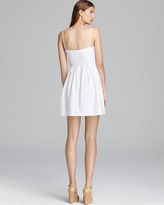 Aqua Dress - Crochet Side Inset