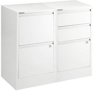 Bisley White File Cabinets