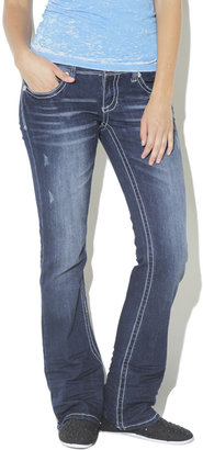 Wet Seal Stitch Boot Cut Jean