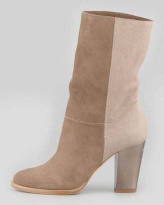 Jimmy Choo Music Mixed-Media Ankle Bootie, Taupe