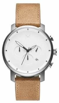 MVMT Chrono Stainless Steel Leather-Strap Chronograph Watch