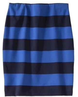 Merona Women's Stripe Pencil Skirt -Xavier Navy
