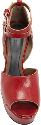 Marni Double Ankle Strap Platform Sandal