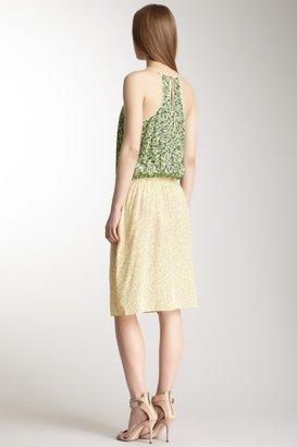 Tibi Clara Silk Colorblock Strappy Easy Dress