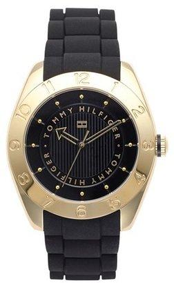 Tommy Hilfiger Round Silicone Strap Watch, 40mm