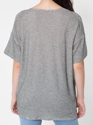 American Apparel Unisex Stripe Le New Big Tee