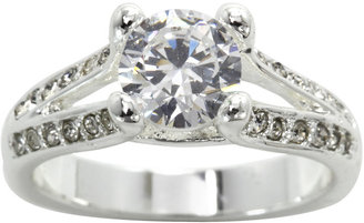 JCPenney Bridge Jewelry city x city Silver-Plated Cubic Zirconia Cocktail Ring