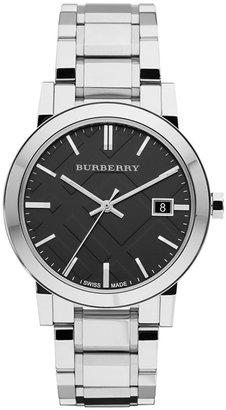 Burberry Watch, Men's Swiss Stainless Steel Bracelet 38mm BU9001 $495 thestylecure.com