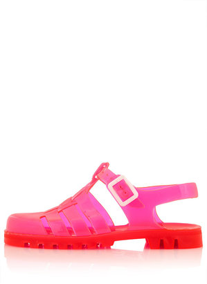 Topshop HUEY2 Gladiator Jelly Sandals