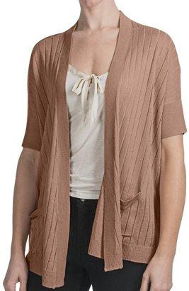 August Silk Flyaway Cardigan Sweater (For Women)