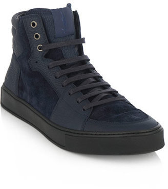 Yves Saint Laurent YSL stitch high-top trainers