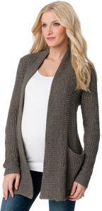 A Pea in the Pod LINE Long Sleeve Drape Maternity Sweater