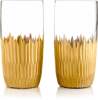 Marchesa by Lenox Set of 2 Imperial Caviar Highball Glasses