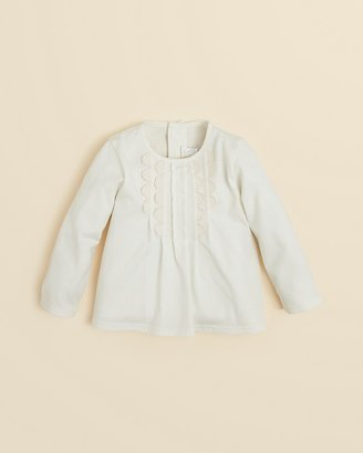 Chloé Infant Girls' Front Scallop Detail Top - Sizes 6-18 Months