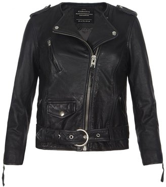 AllSaints Cropped Riley Biker Jacket