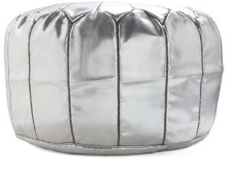 Karma Living Get it Bright Pouf in Silver