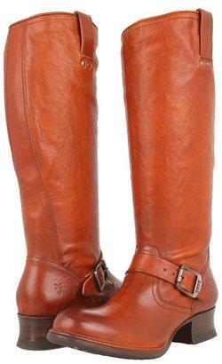 Frye Martina Engineer Tall (Whiskey Vintage Veg Tan) - Footwear